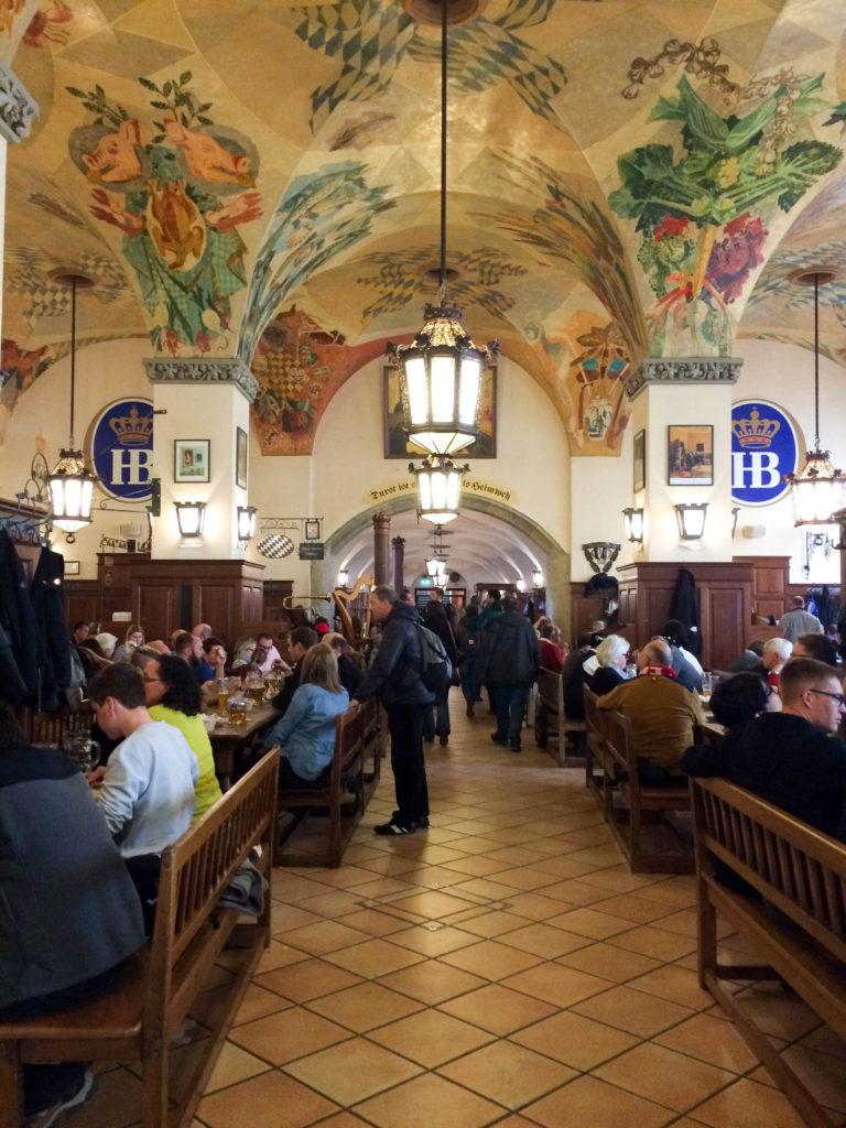 Hofbrauhaus beer hall painted ceiling Munich Bavaria Germany