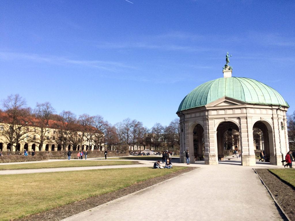 Hofgarten park garden Munich Bavaria Germany pavilion goddess Diana
