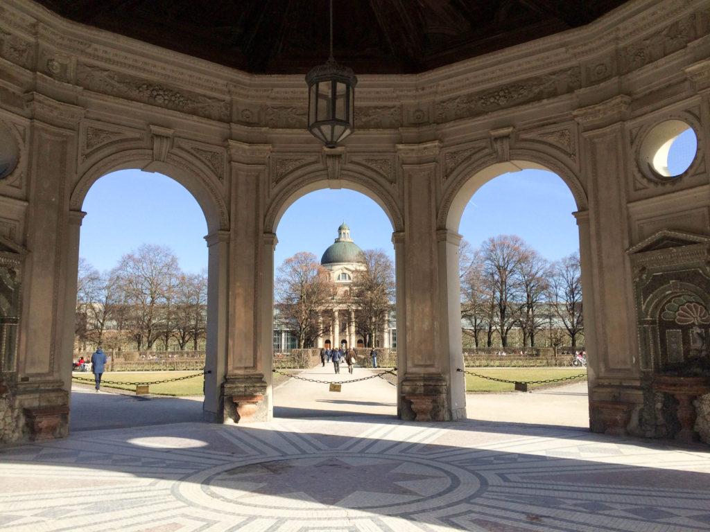 Hofgarten park garden Munich Bavaria Germany pavilion goddess Diana Bavarian State Chancellery