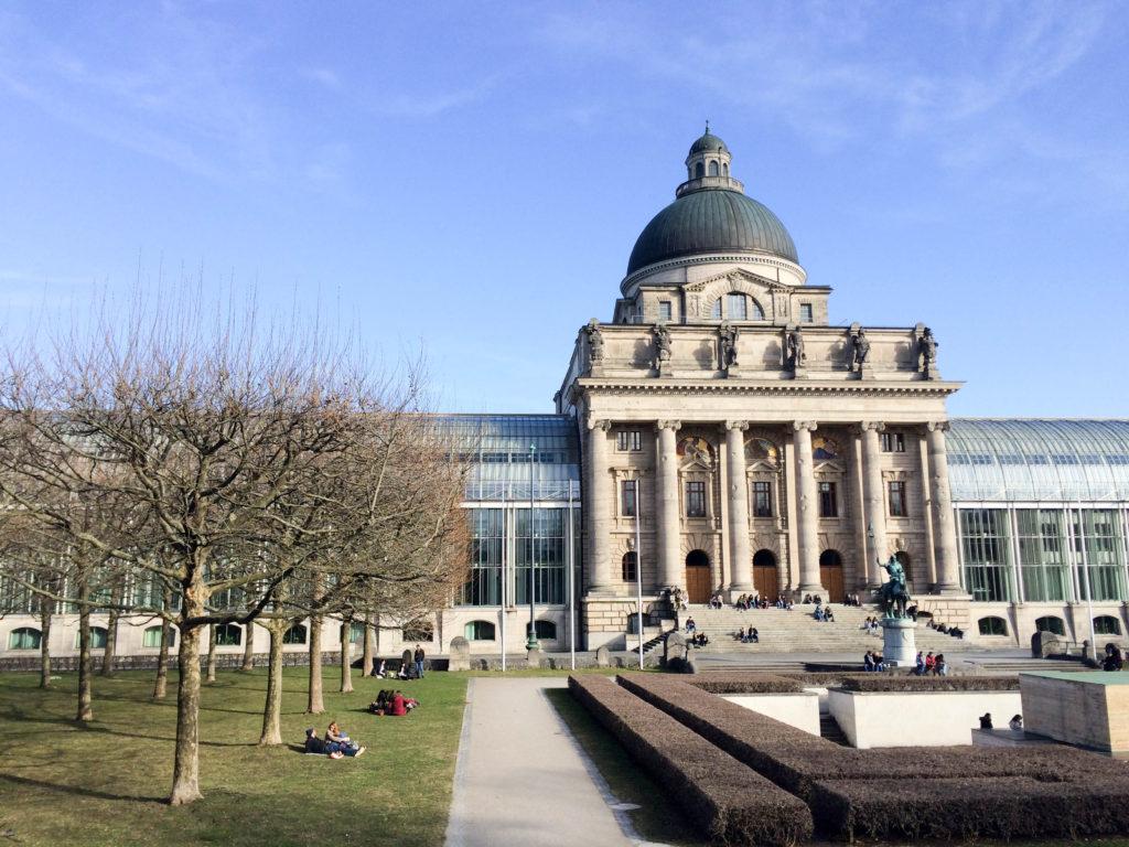 Hofgarten park garden Munich Bavaria Germany Bavarian State Chancellery