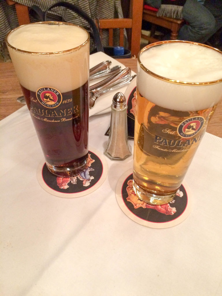 typical German drink beer Munich Bavaria Germany Paulaner