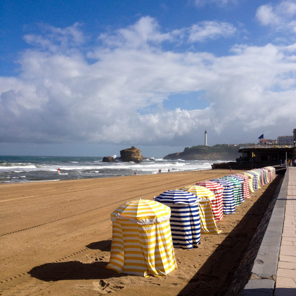 France Basque country Biarritz Grand Plague beach