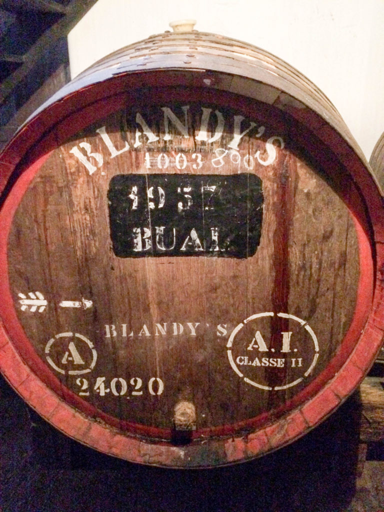 Blandy's Wine Lodge Funchal Madeira Portugal Madeira wine Canteiro Lodge barrel