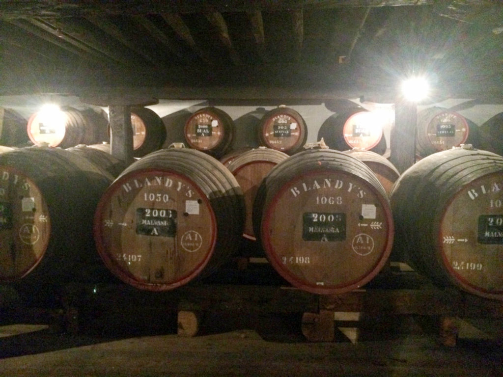 Blandy's Wine Lodge Funchal Madeira Portugal Madeira wine barrels