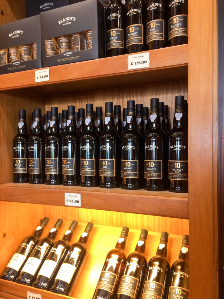 Blandy's Madeira wine typical drink Portugal wine bottles