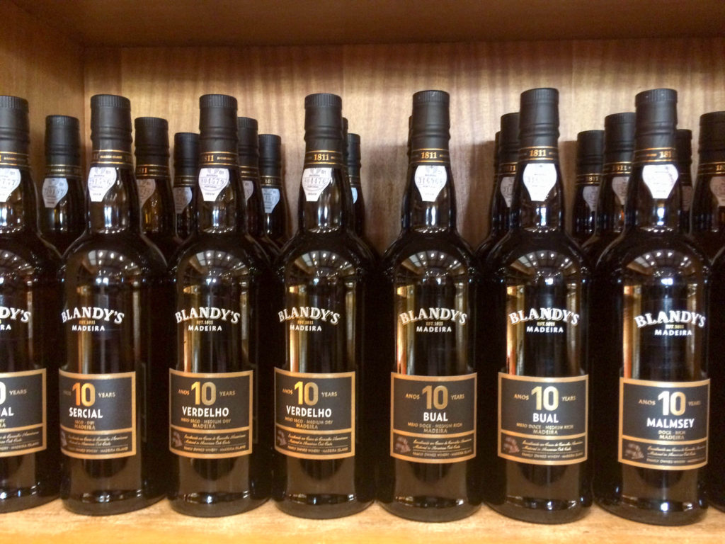 Blandy's Wine Lodge Funchal Madeira Portugal Madeira wine bottles