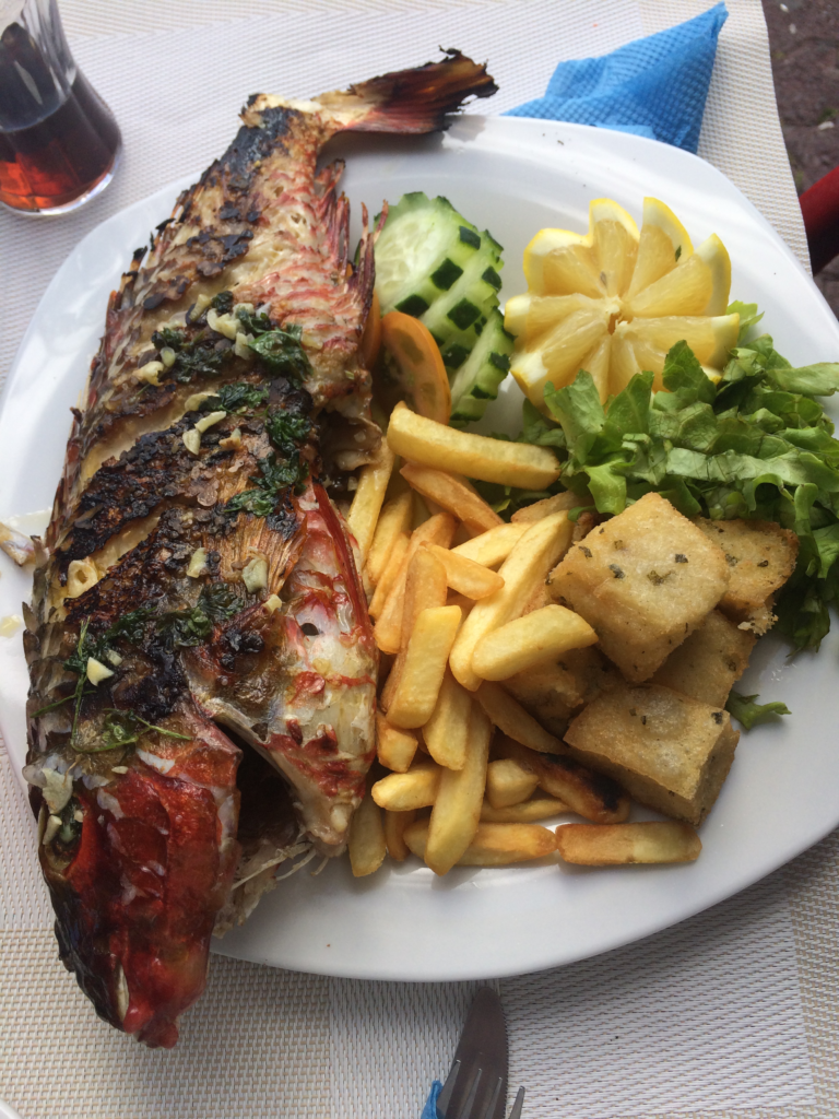 fish seafood typical food Madeira Portugal milho frito