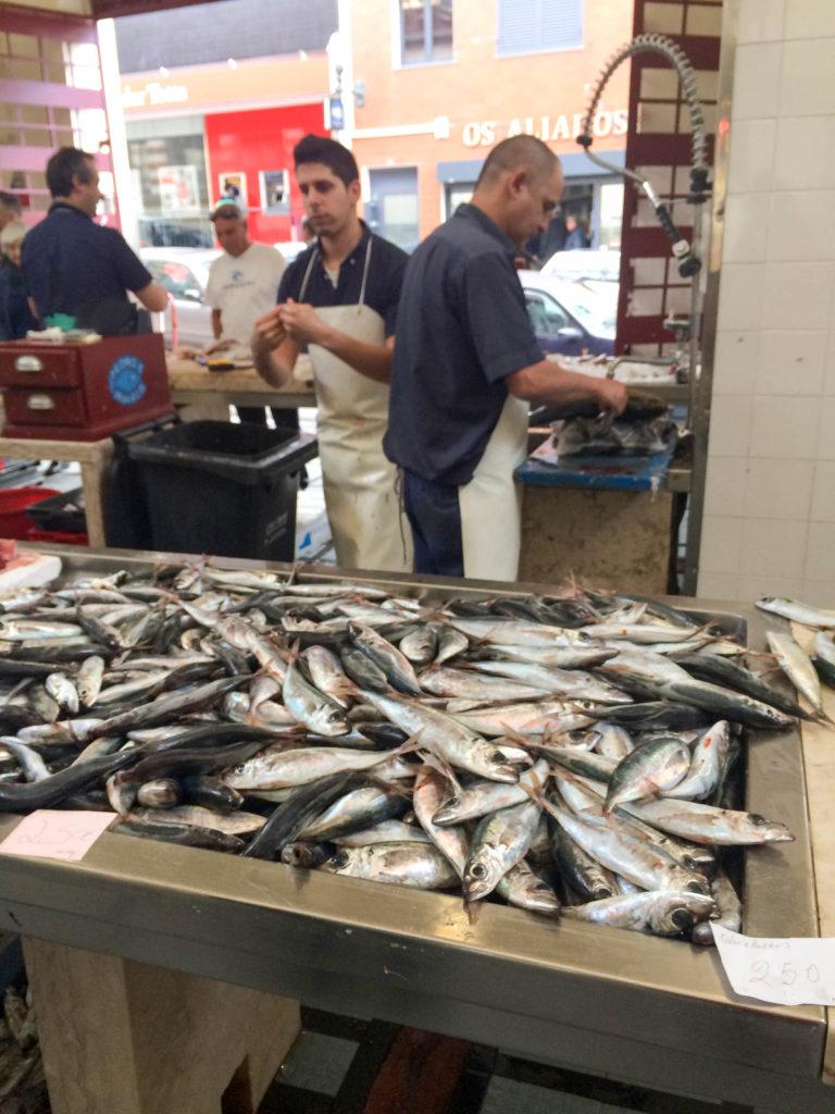 fresh fish market Mercado dos Lavadores Funchal Madeira Portugal typical food