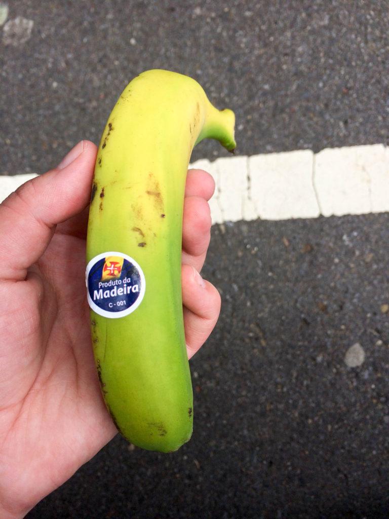typical food tropical fruit Madeira Portugal banana