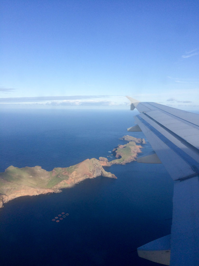 Madeira Portugal Europe island view from the plane