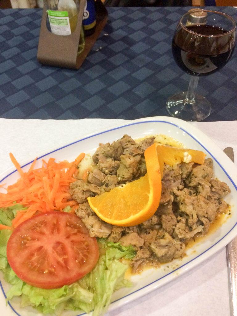 Carne de Vinho e Alhos meat red wine typical food Madeira Portugal