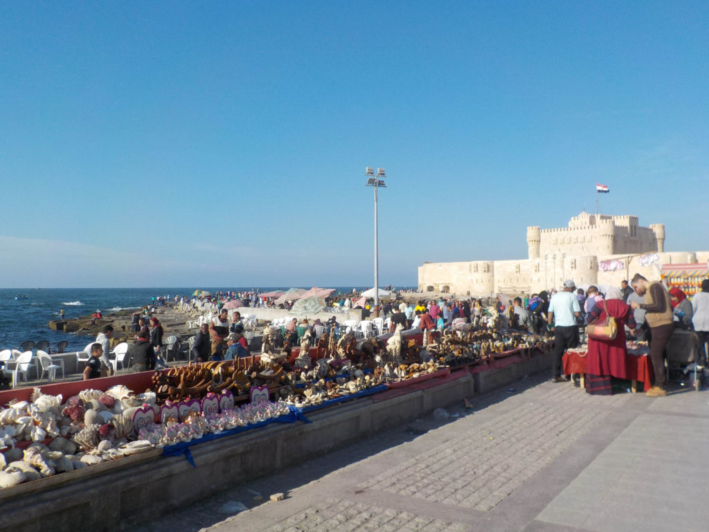 Citadel of Qaitbay Alexandria Egypt Africa Mediterranean Sea local market