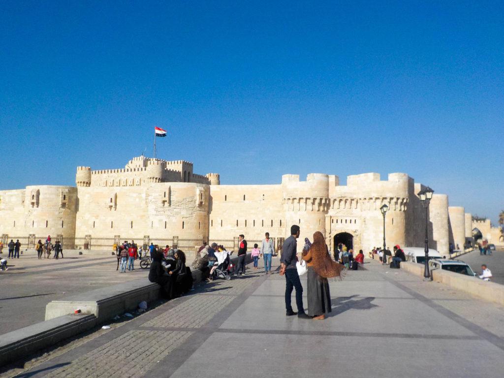 Citadel of Qaitbay Alexandria Egypt Africa Mediterranean Sea
