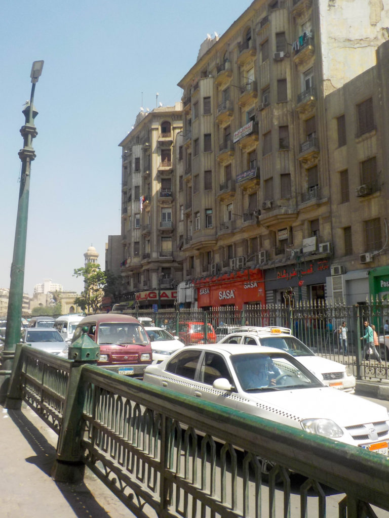 Cairo Egypt street Africa traffic crossing the street