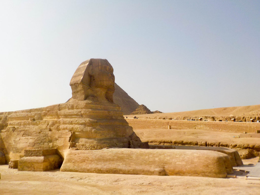 Giza pyramids Cairo Egypt Africa the Great Sphinx