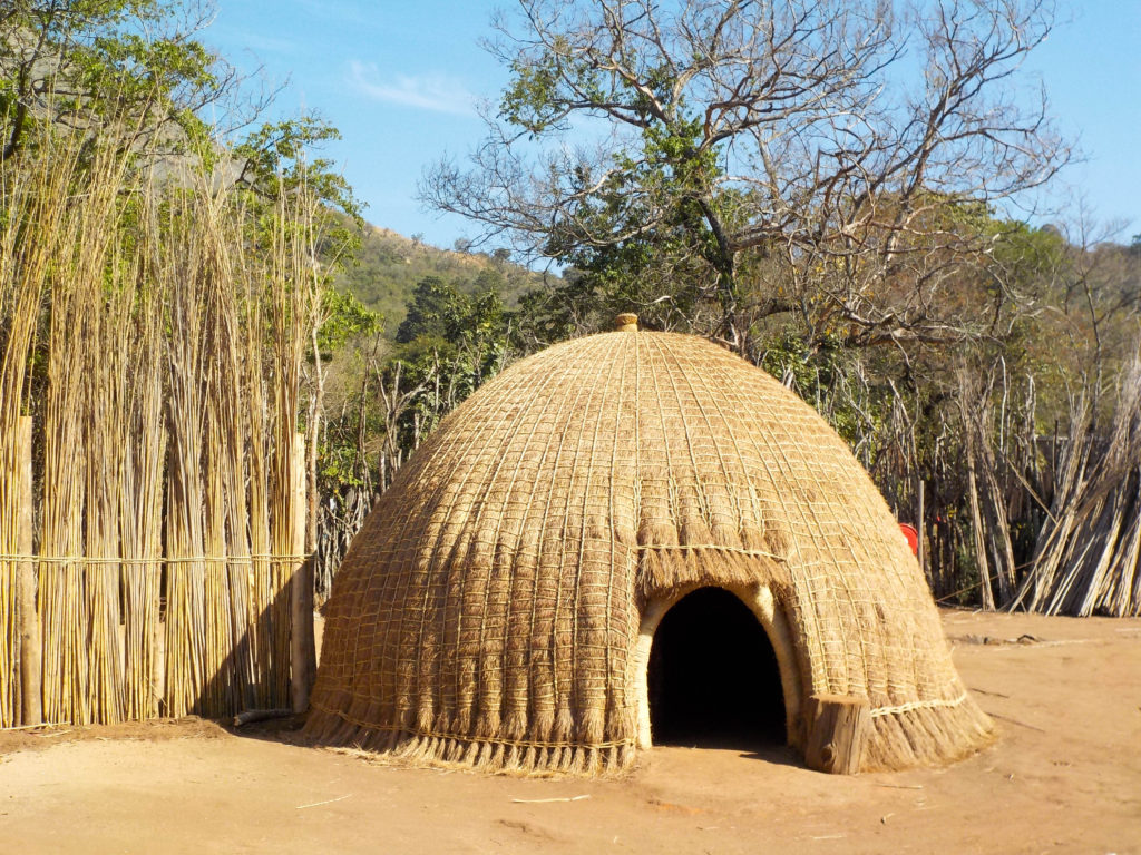 Mantenga Nature Reserve cultural village Swaziland typical house