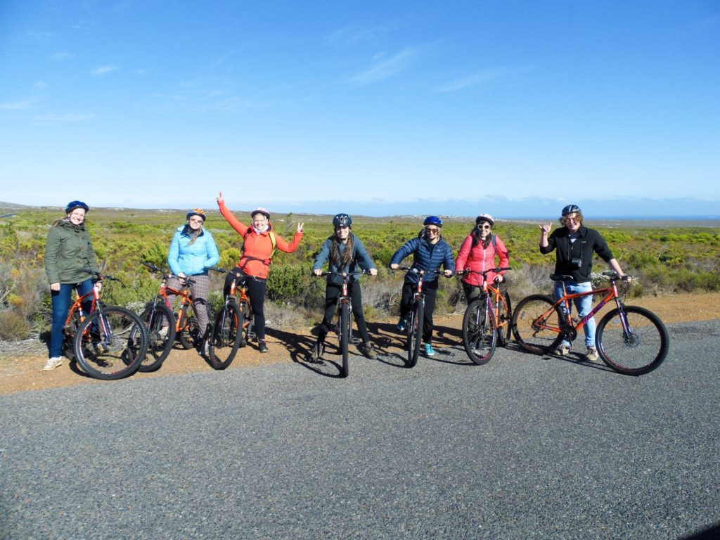 Cape Peninsula Nature Reserve cycling group Baz Bus South Africa