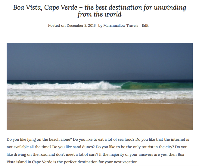 Marshmallow Travels blog post Cape Verde Boa Vista Africa