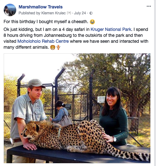 Facebook Marshmallow Travels