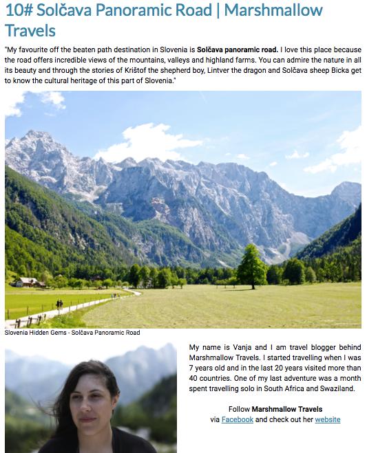 Marshmallow Travels Hidden SLovenia Gems colaboration
