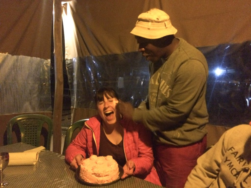 Kruger National Park tour birthday girl Vanja Vodenik cake