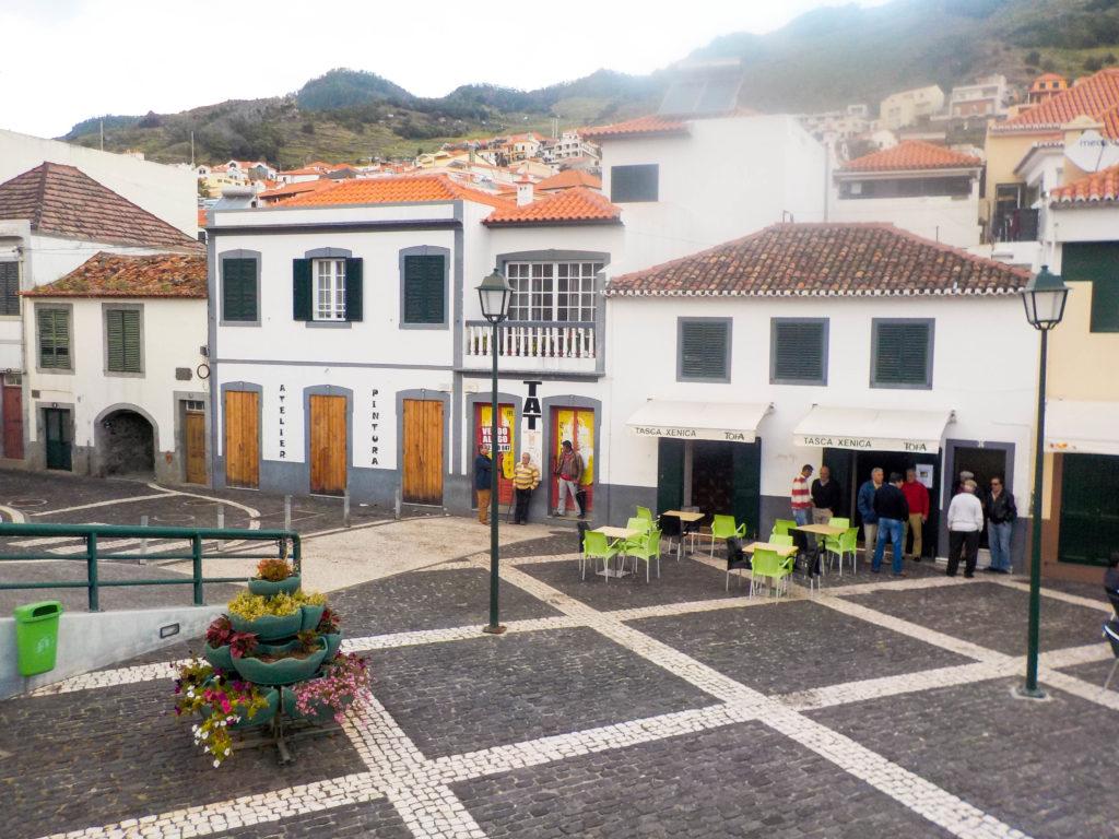 Madeira Portugal Europe island Machico town square