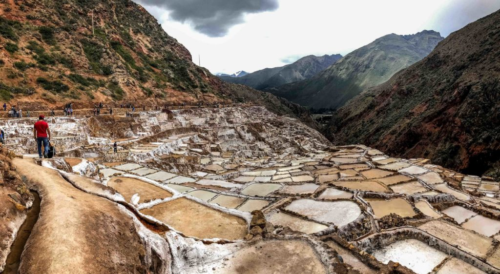 Maras salt mines Cusco Peru South America