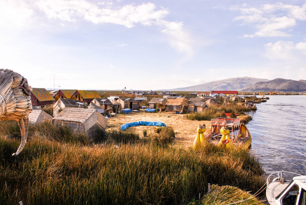 Uros Floating Islands Lake Titicaca Puno Peru South America