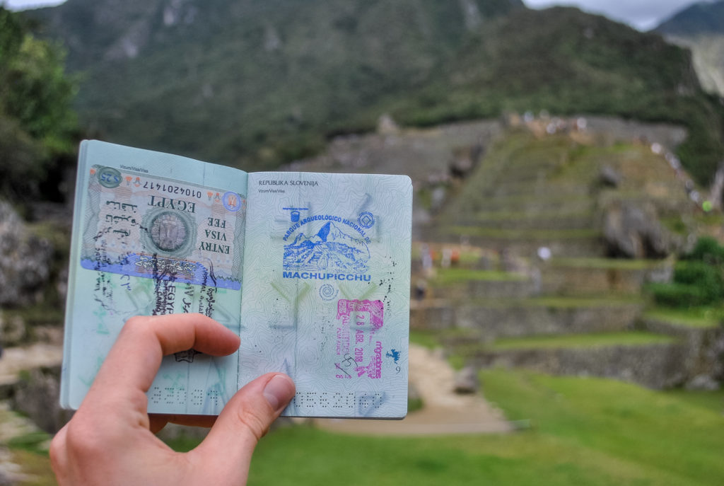 Machu Picchu Cusco Peru Latin America passport stamp