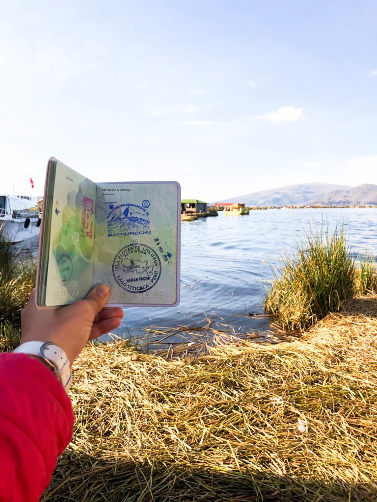 Uros Floating Islands Lake Titicaca Puno Peru South America passport stamp