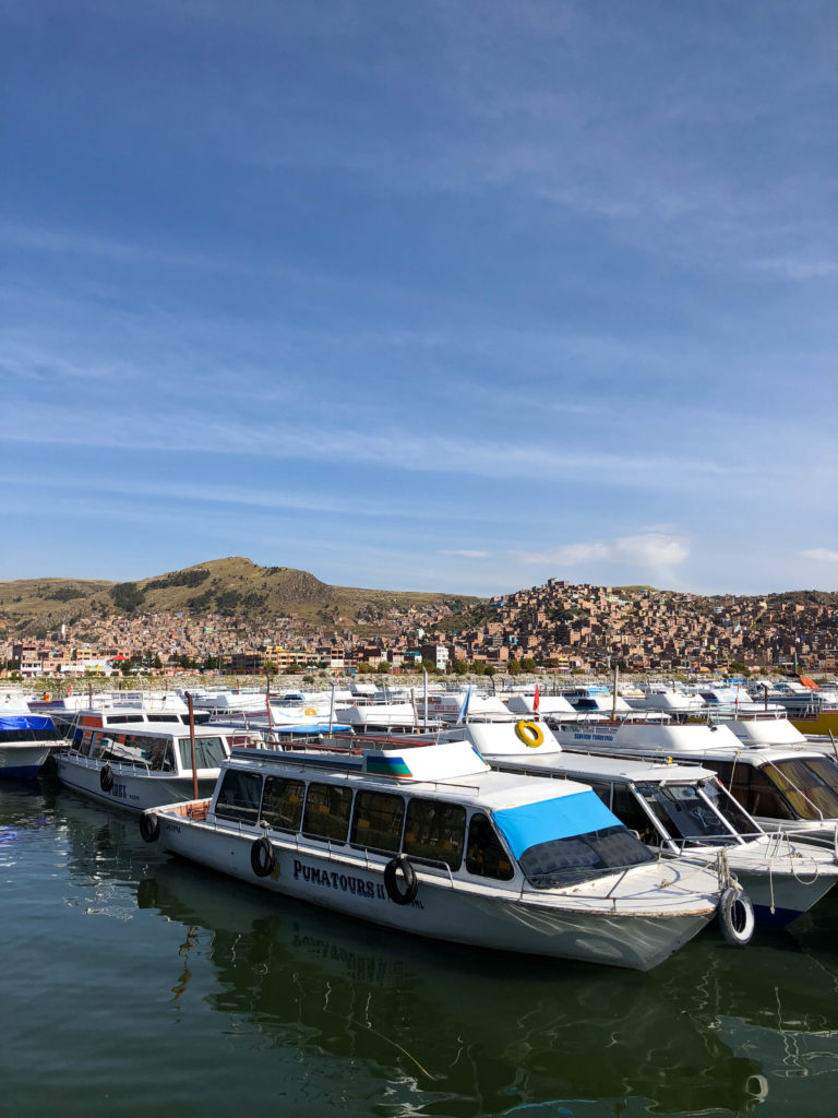 Puno Peru port Lake Titicaca South America