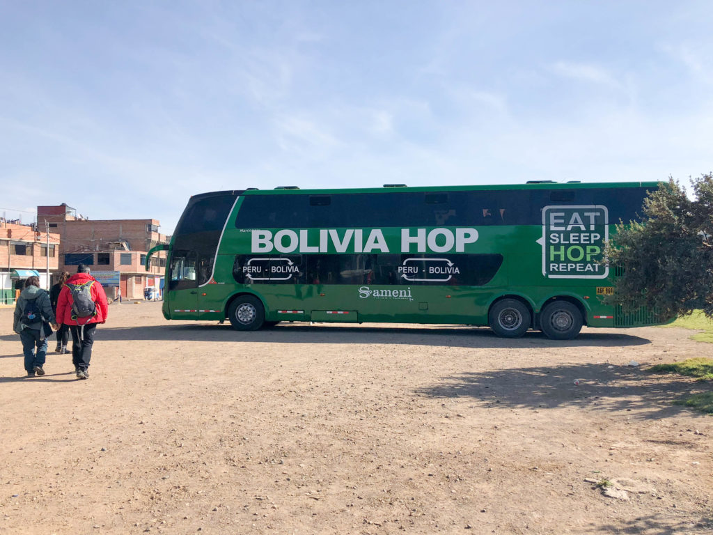 Bolivia Hop bus ride Puno Peru South America