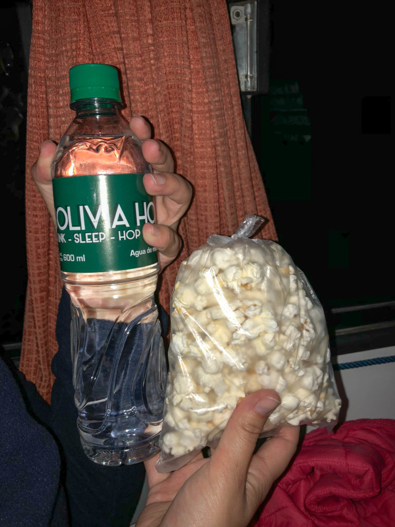 Bolivia Hop pop corn water