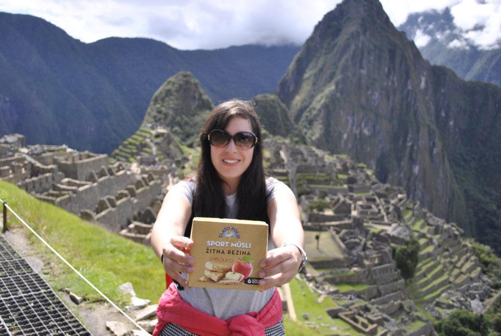 apple muesli bar Sport musli Zlato polje Žito Vanja Vodenik Machu Picchu Cusco Peru South America