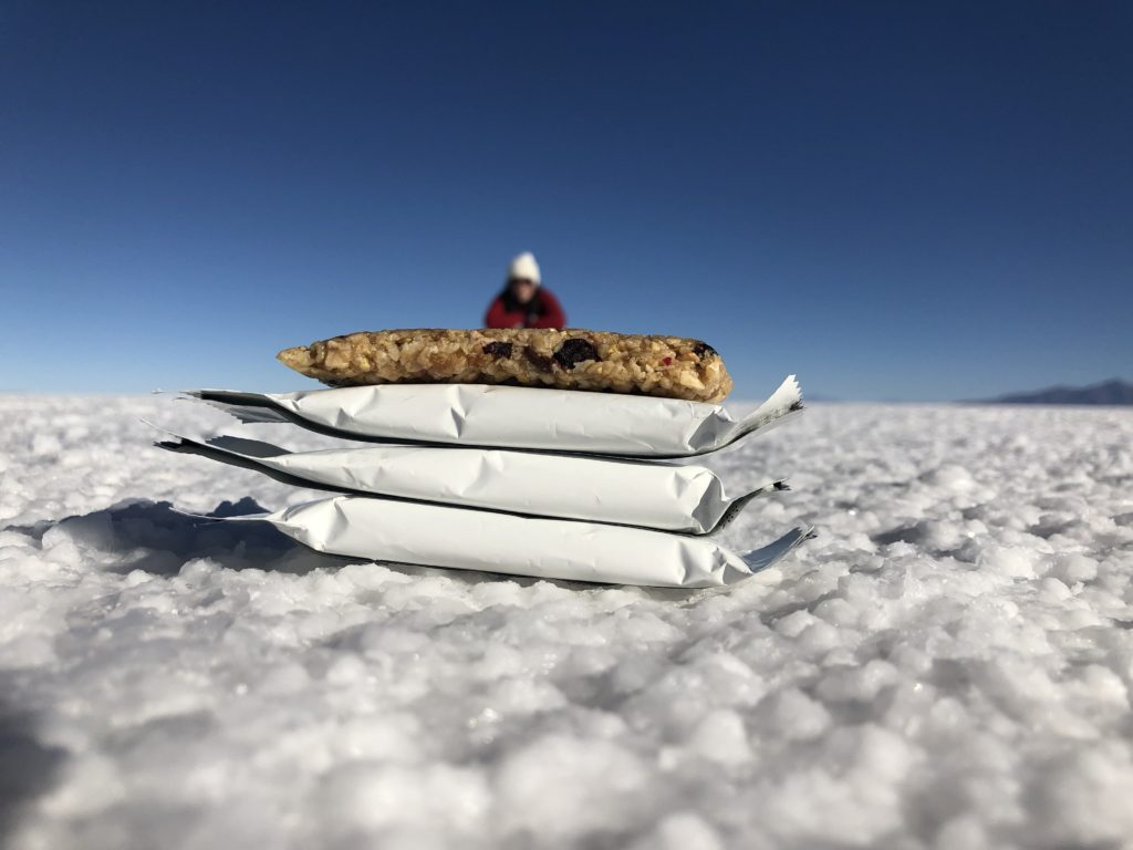 apple muesli bar Sport musli Zlato polje Žito Uyuni salt flats Bolivia South America