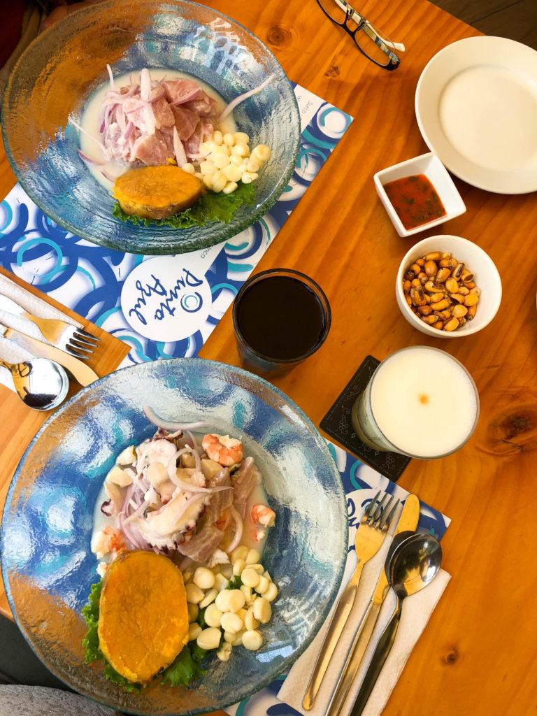 ceviche Restaurante Punto Azul Miraflores Lima Peru South America