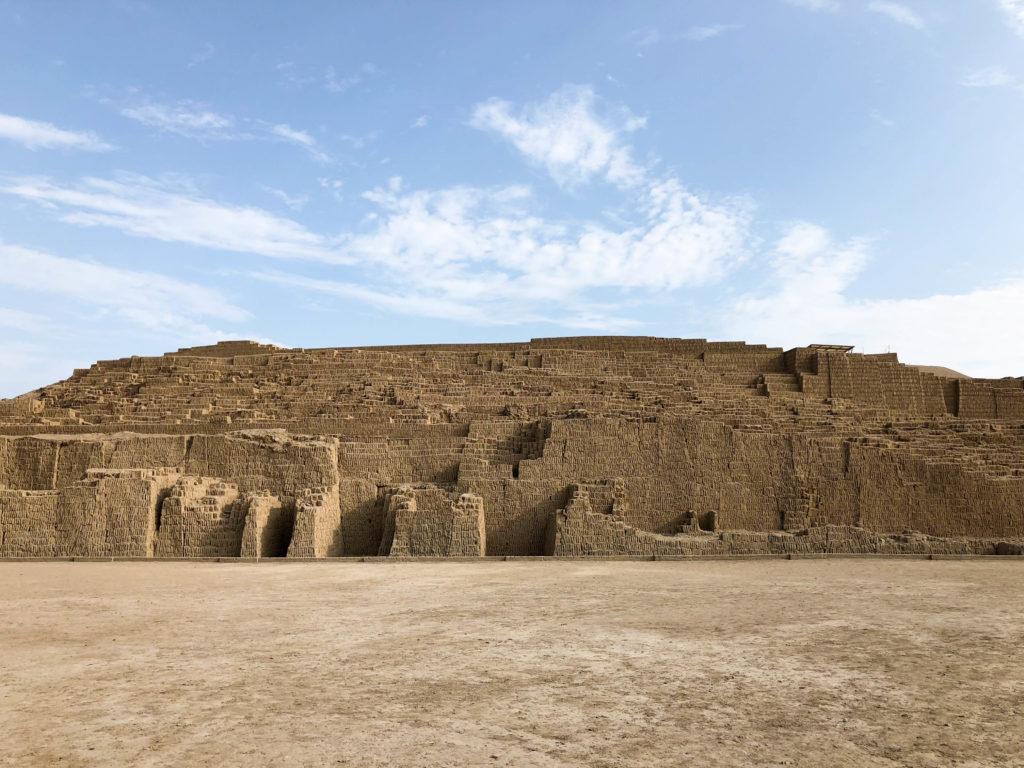 Huaca Pucllana pyramid Miraflores Lima Peru South America