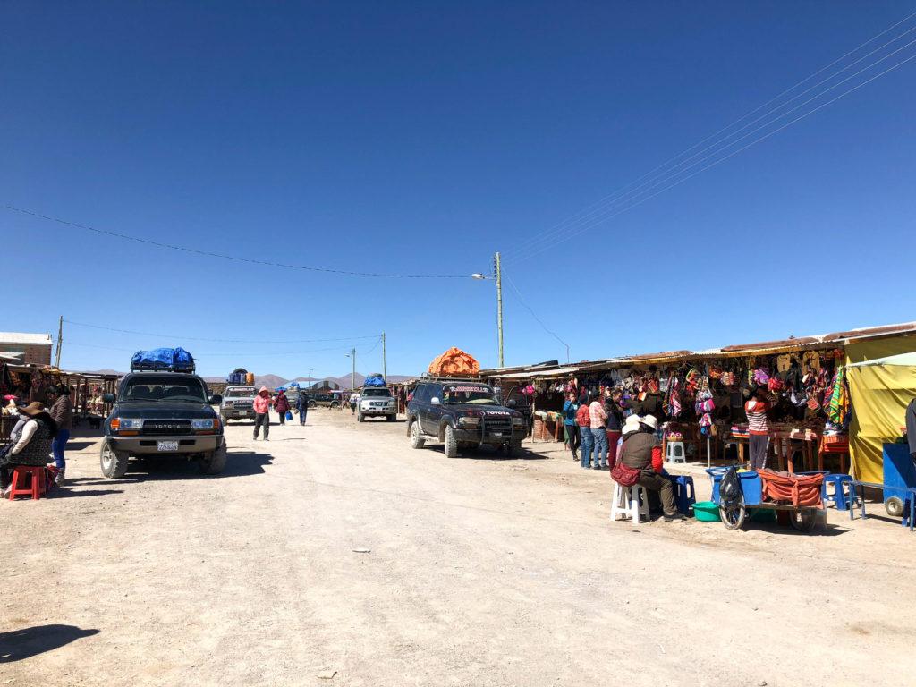 Colchani Salar de Uyuni salt flats and Reserva Nacional de Fauna Andina Eduardo Avaroa tour Bolivia South America