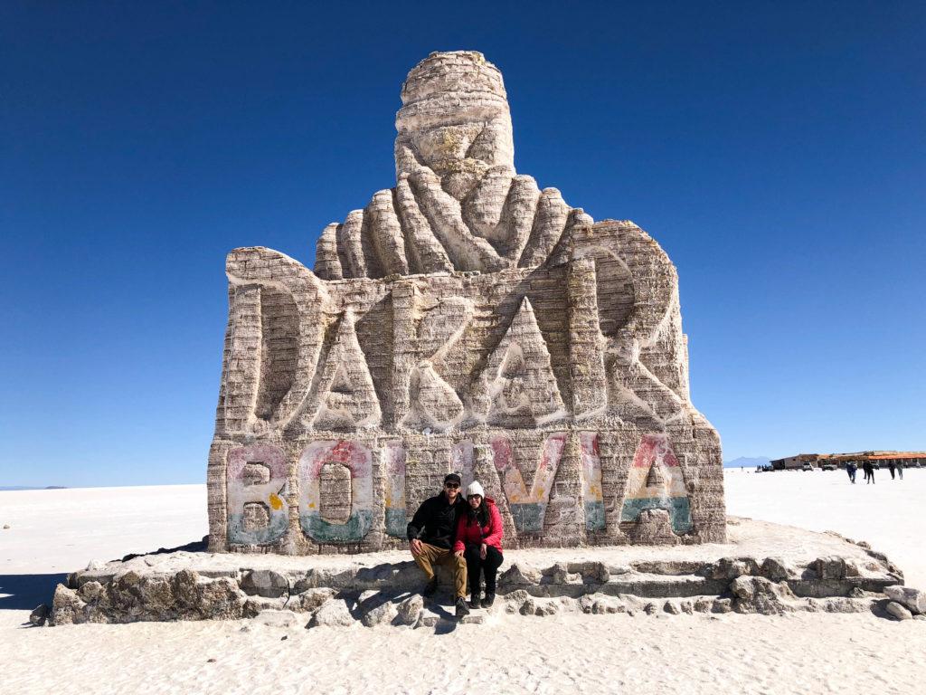 Dakar rally monument Salar de Uyuni salt flats and Reserva Nacional de Fauna Andina Eduardo Avaroa tour Bolivia South America