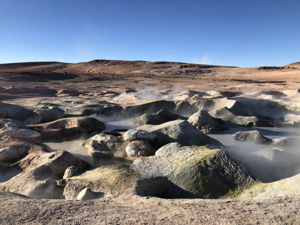 Geiseres Sol de la Manana Reserva Nacional de Fauna Andina Eduardo Avaroa Uyuni Bolivia South America