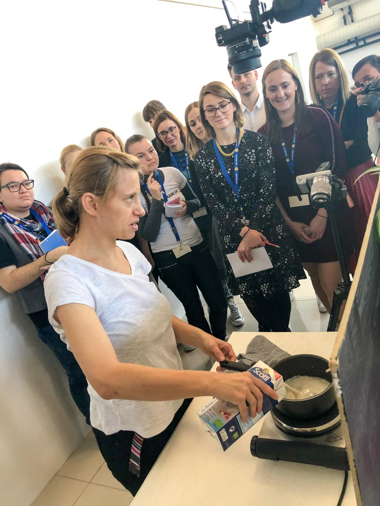 Sit Fit workshop filming food bloggers conference Njam zgodbe Ljubljana Slovenia