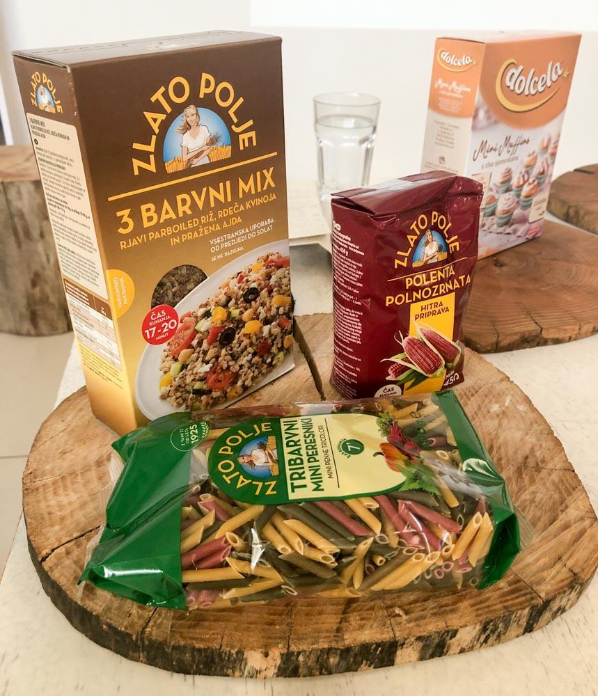 Zlato polje products pasta rice food bloggers conference Njam zgodbe Ljubljana Slovenia