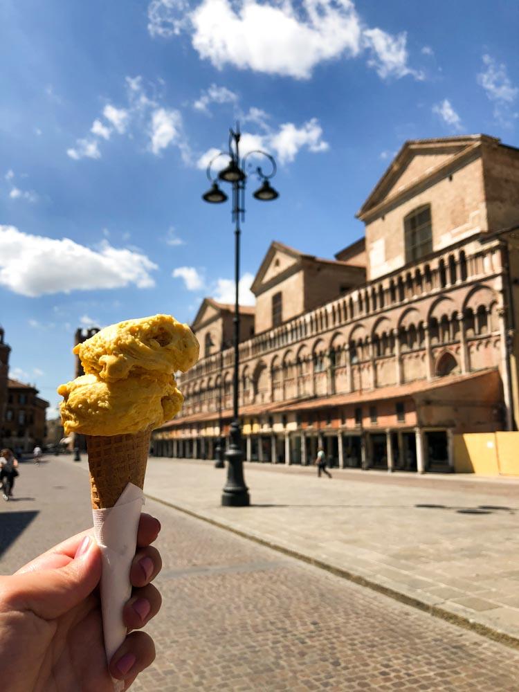 ice cream Ferrara Emilia Romagna Italy Europe