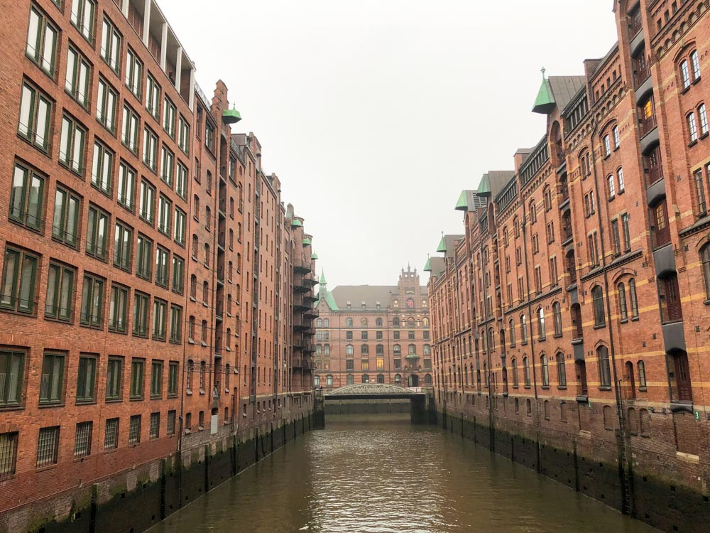 Hafencity warehouses Hamburg Germany Europe