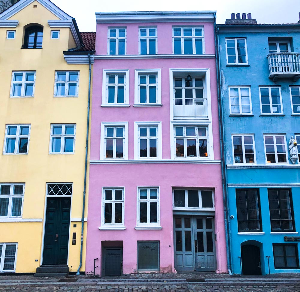 Colourful buildings Nyhavn canal Copenhagen Denmark Europe