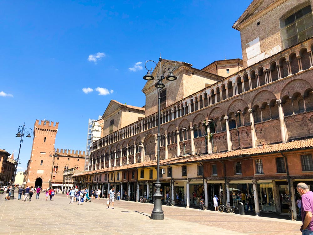 Italy Emilia-Romagna Ferrara Piazza Trento e Trieste
