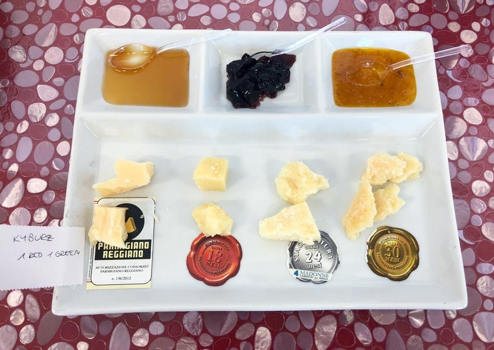 taly Emilia-Romagna Cheese diary 4 Madonne Caseificio dell'Emilia Modena cheese tasting Parmigiano Reggiano
