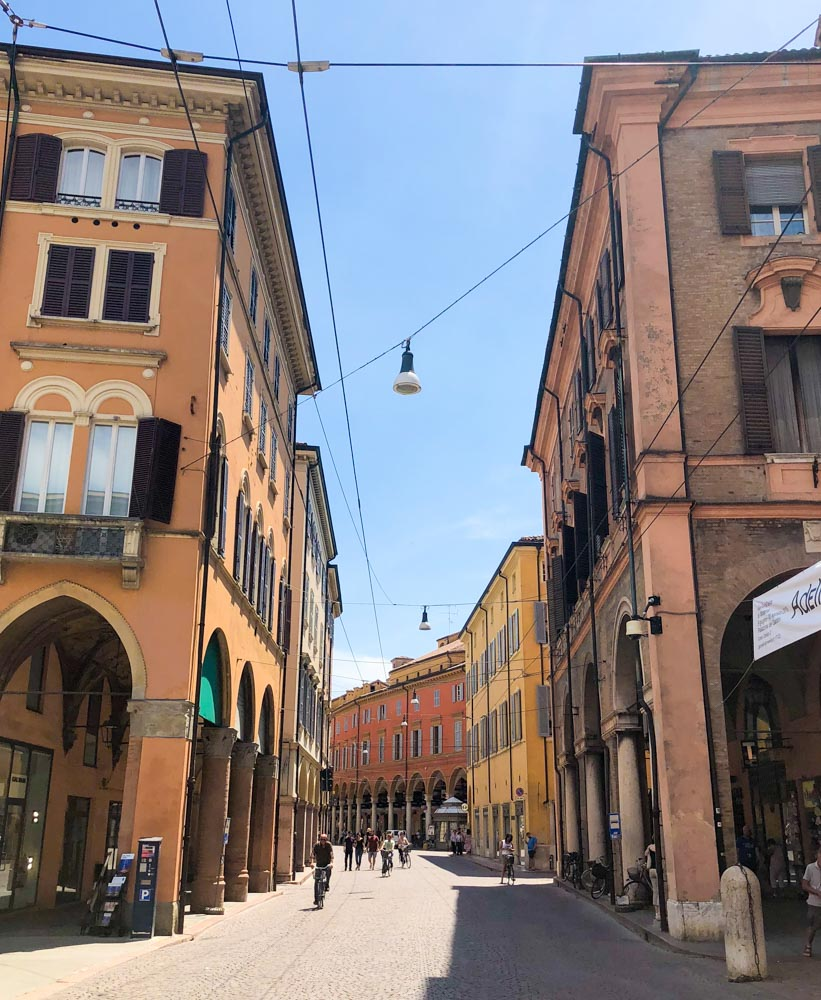 Italy Emilia-Romagna Modena porticoes