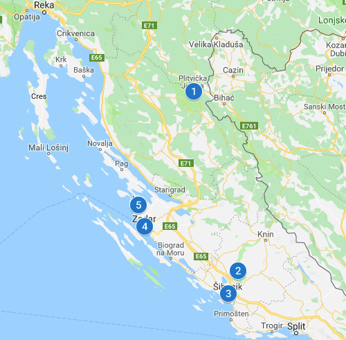 Northern Dalmatia Croatia Europe travel itinerary
