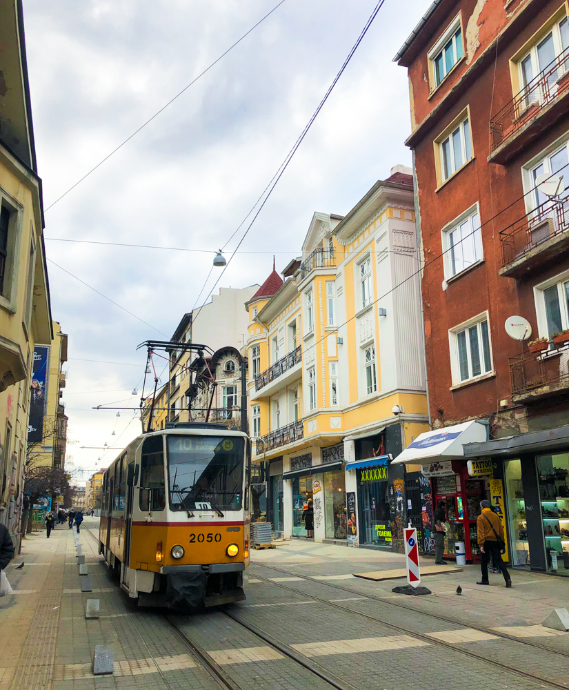 tram Sofia Bulgaria Europe